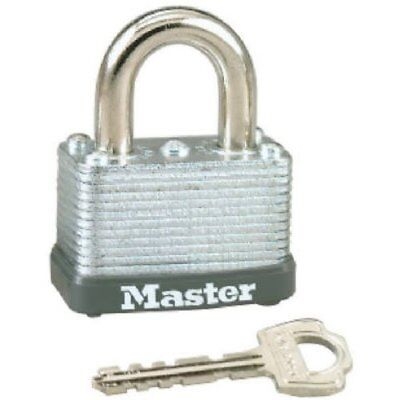 """Master Lock 22D Laminated Steel Warded Padlock, 1-1/2"""" Wide, 5/8-Inch Shackle H"""