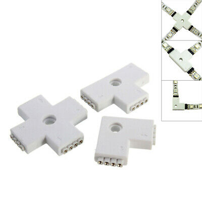 10mm LED Strip Connector 3528/5050 4-Pin RGB Straight Corner Cross L T X Adapter