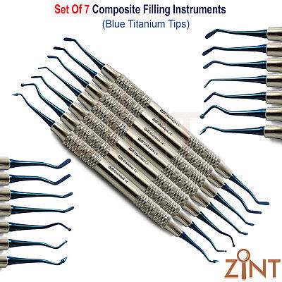 Set Of 7 Amalgam Composite Placement Kit Basic Restorative Dental Filling Tools