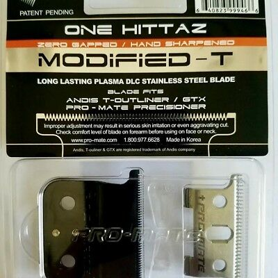PRO-MATE ONE HITTAZ MODIFIED REPLACEMENT BLADES Fits Andis T-Outliner, GTX
