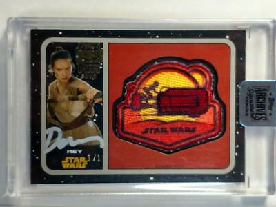 2018 Topps Star Wars Archives Signature Daisy Ridley Auto Patch 1/1 Rey #1/1
