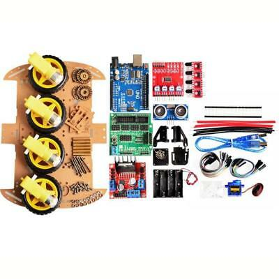 4WD DIY Smart Chassis Car Kit  For Arduino with UNO R3 + Ultrasonic