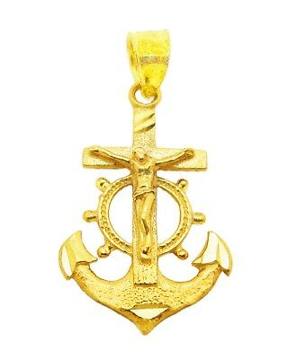 Fashion Jewelry Clement's Cross Anchor Pendant White Gold Mariner Crucifix  St