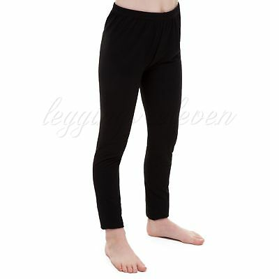 Childrens Kids Girls Black Full Length Leggings Age 2 3 4 5 6 7 8 9 10 11 12 13