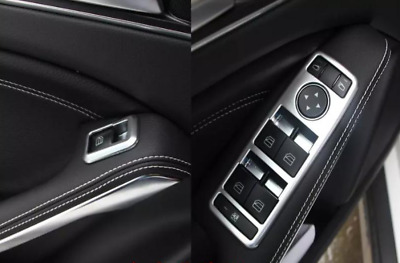 4 SILVER COVERS FRAME TRIM SURROUND SWITCH BUTTONS for MERCEDES B-CLASS W246 AMG