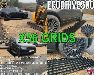 Gravel Grids Driveway Pack Of 56 / 14 Sqm Grass Protection Grid Paving Base