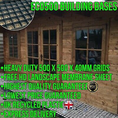 GARDEN SHED BASE FULL KIT + HEAVY DUTY MEMBRANE ECO SLAB GREENHOUSE BASE GRID em