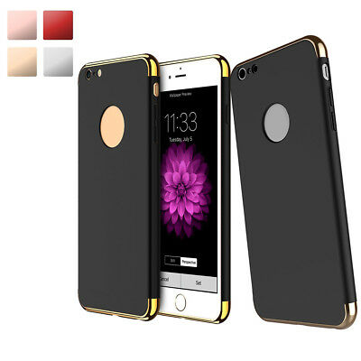 For Apple iPhone X 8 7 6 PLUS 5 SE ShockProof Hard Rugged Slim 3 IN 1 Case Cover