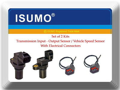 (Set 2) Trans Input & Output Speed Sensor W/ Connectors Fits:Hyundai & Kia
