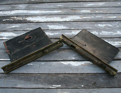 Antique Pocket Door Locks Norwalk Lock Co. Sliding Mortise Lock Brass Vintage