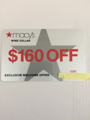 Macy's Coupon Card, Wine Cellar $160. . Please see description. SAME DAY SHIP!!