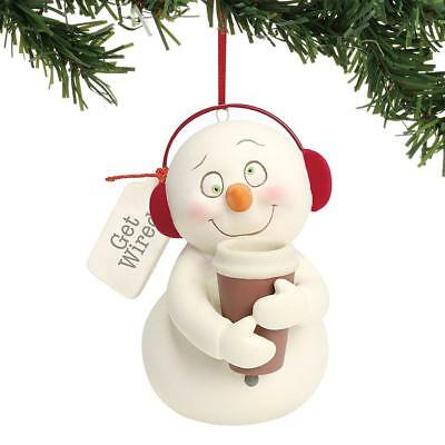 Dept 56 Snowpinions New 2018 GET WIRED Snowpinion ORNAMENT 6001856 Coffee