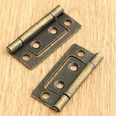 Antique Bronze Furniture Cabinet Hinge Jewelry Box Wardrobe Cupboard Door Hinges