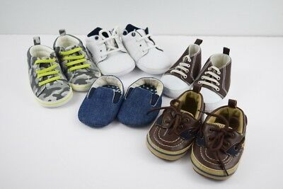 LOT of baby boys shoes Newborn - 3 months New and EUC 5 pairs