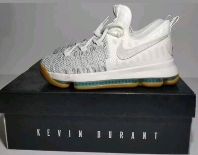 new styles f36b3 49900 NEW  125 NIKE ZOOM KD9 GS Youth KEVIN DURANT Pale Grey Ivory White 855908-