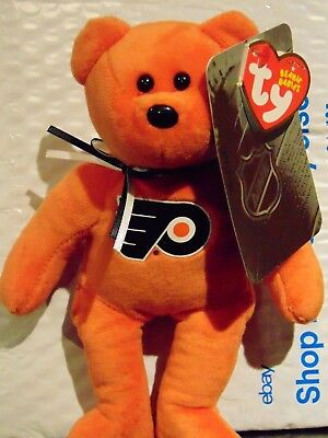 "2018 NEW NHL Philadelphia Flyers 8"" Ty Beanie Baby Hockey Bear"
