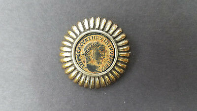 Sterling Silver Brooch with Ancient Roman Coin - Original Owner
