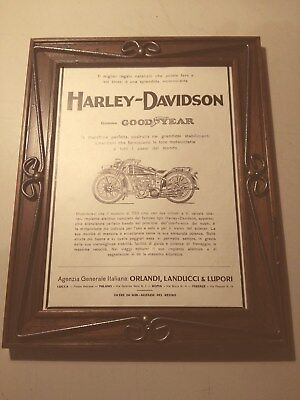 1928 Quadro Con Stampa Harley Davidson Gomme Good Year Lucca Milano Roma Firenze