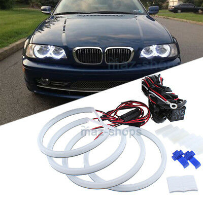 Error Free White Angel Eye Halo Cotton Light LED SMD For BMW E46 Non Projector