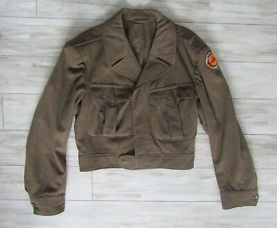Vintage 1944 World War II WW2 US Army Wool Dress Coat Jacket Size 38R