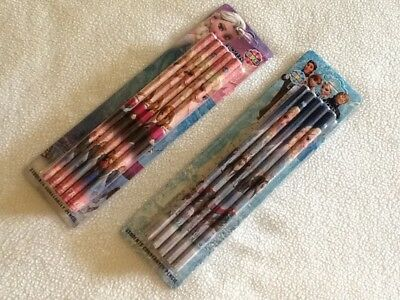 DISNEY FROZEN ANNA & ELSA Pencils Blue or Pink Party Loot Bag Fillers (10 Pack)