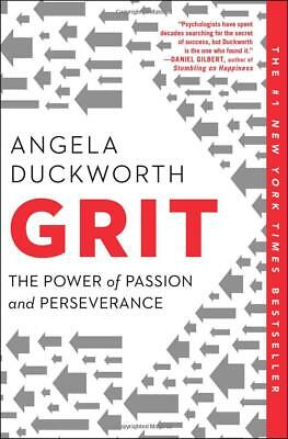 Grit: The Power of Passion and Perseverance by Angela Duckworth (Paperback) NEW