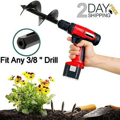 Auger Drill Bit Bulb Planter Hole Digger Gardening Tools Yard Flower