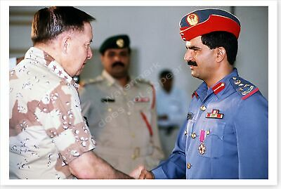 Lt. General Horner Meets With UAE General Operation Desert Storm 8 x 12 Photo