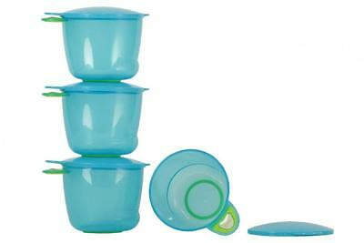 Vital Baby Prep And Go Food Pots (Blue, Pack of 4)