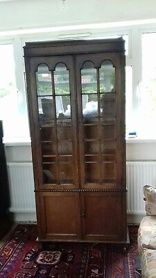 Antique art deco / Transitional arts and crafts oak book case