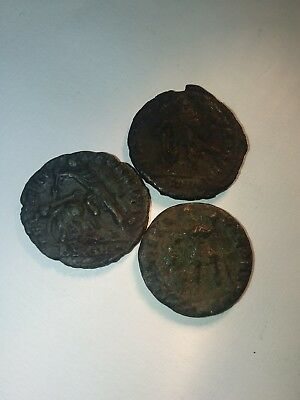 ANCIENT ROMAN COINS ×3 Better Quality. Bronze Follis. AUTHENTIC. Great Value Lot