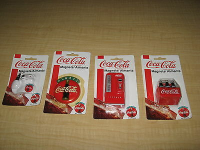 4 Vintage 3-D Coca Cola - Coke Magnets