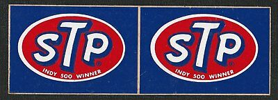 STP INDY 500 WINNER INDIANAPOLIS ORIGINAL STICKER SET x2 AUFKLEBER ADESIVO RARE