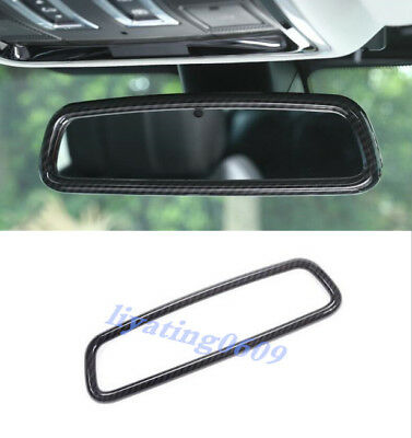 Carbon Fiber Interior Rearview Mirror Frame Trim For Discovery Sport 2015-2018