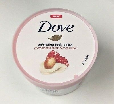 DOVE Exfoliating Body Polish   10.5 OZ Pomegranate Seeds And Shea Butter
