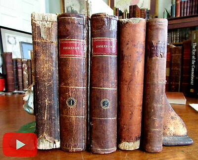 American imprints 1791-1799 old leather books lot of 5 Journals Religion