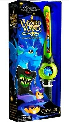 Of Dragons Fairies & Wizards Wizard Wand Clawtor Mighty Blue Dragon
