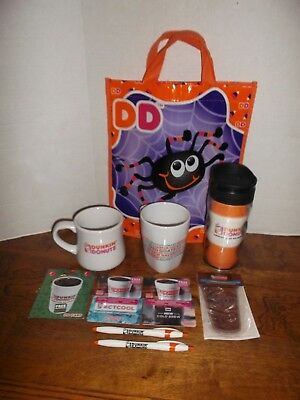 rare lot of dunkin donuts travel mug gift cards mugs halloween