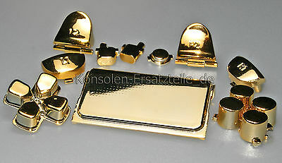 PS4 Controller Modding Set metallic Button Knöpfe Trigger Action Tasten in GOLD