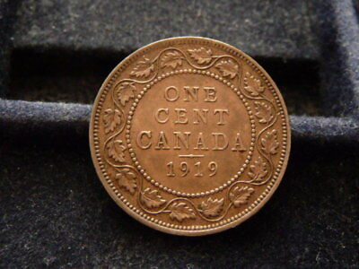 1919 Canada Large Cent In Extra Fine Condition H-26-18