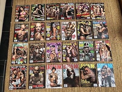 Urban Ink Magazine 32 Issues Collection HipHop Tattoo Rick Ross Game Chris Brown