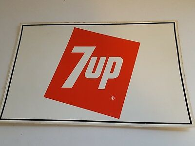 """Vintage Large 7up Decal 11.50"""" x 7.75"""""""