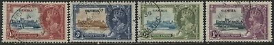 Gambia KGV 1935 Silver Jubilee set used
