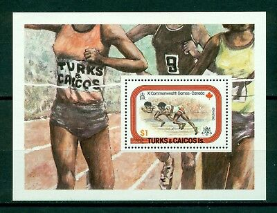 Turks & Caicos Islands Scott #359 MNH S/S Commonwealth Games SPORTS $$