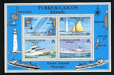 Turks & Caicos Islands Scott #467 MNH S/S Racing Yachts $$