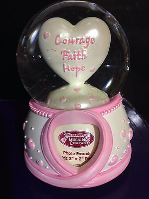 Breast Cancer Personalized Water Globe By Sanfrancisco Music Box Company