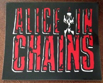 Rare ALICE IN CHAINS Sticker! COLLECTIBLE/ VINTAGE/ 1990'S METAL/ WINDOW DECAL!