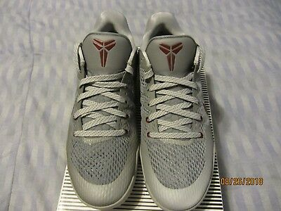 0d2686610254 ... cheap nike kobe xi 11 lower merion aces cool grey team red mens size  12.5 836183