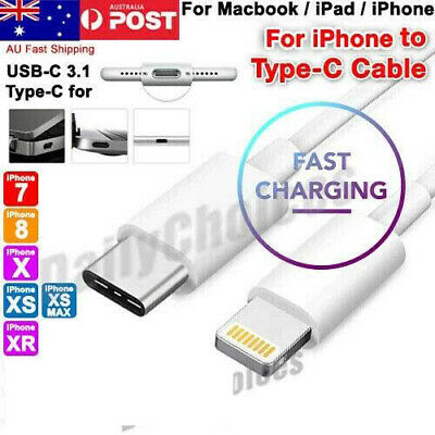 USB C to Lightning 15W PD Fast Charging Cable Braided Cord For iPhone 8 X XS XR