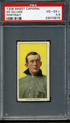1909-11 T206 Sweet Caporal 350/25 Ed Killian Portrait PSA 4.5 POP 1 ONLY 1 Highe